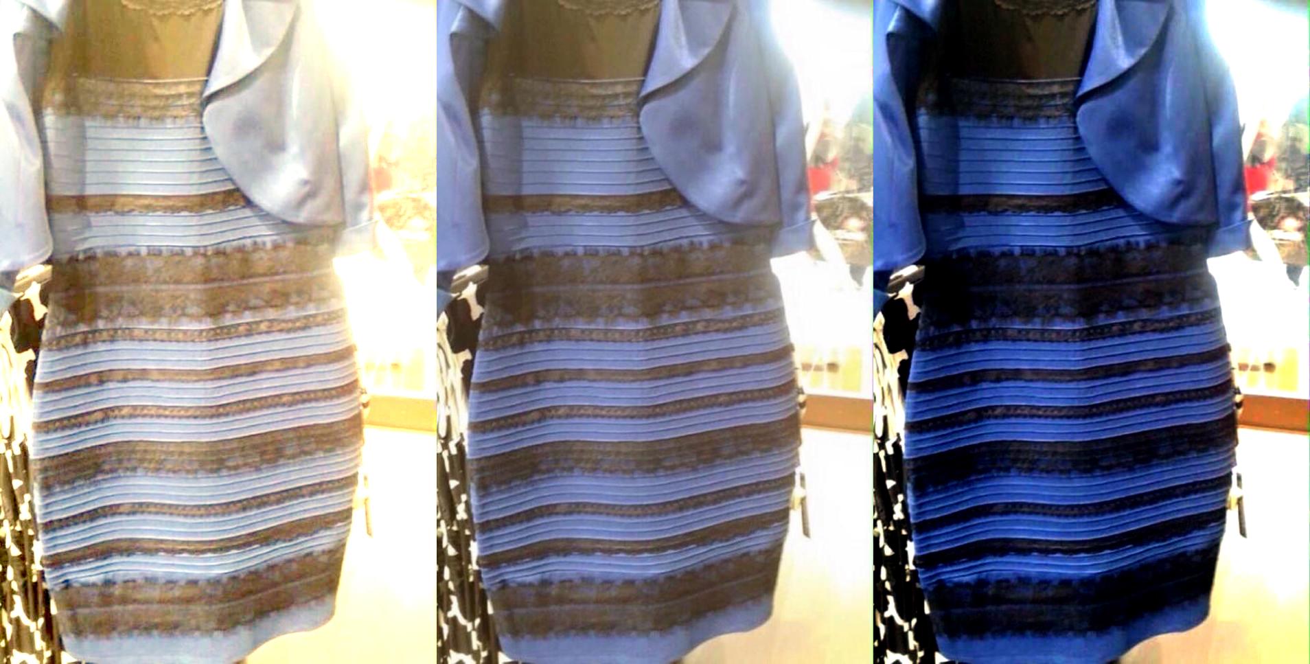 Historia do vestido azul e preto