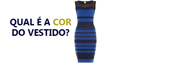 Vestido azul e dourado ou azul e preto